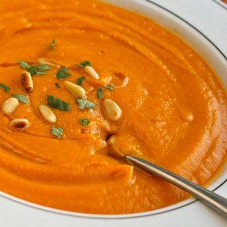 Постный суп из моркови