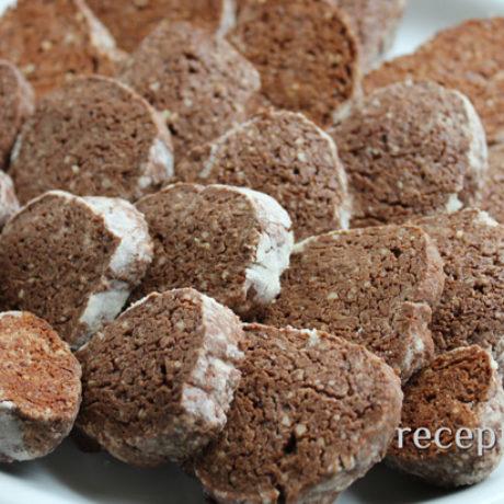 Шоколадное печенье с грецким орехом
